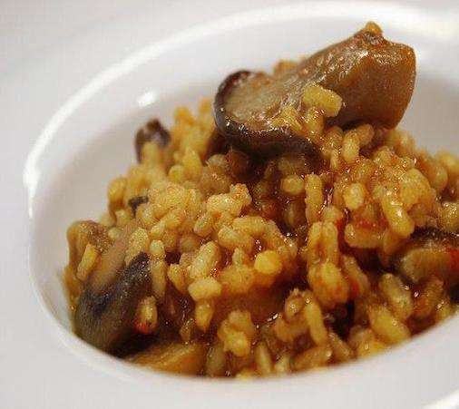 Risotto crémeux aux champignons et Mousse de Canard à l'Armagnac Arnaud